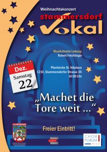 Weihnachtskonzert Stammersdorf Vokal @ Stammersdorfer Pfarrkirche